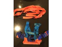 Child's ski harness with reins and handles for safety whilst skiing
