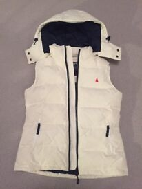 Musto Womens White Quilted Gilet (Size 12)