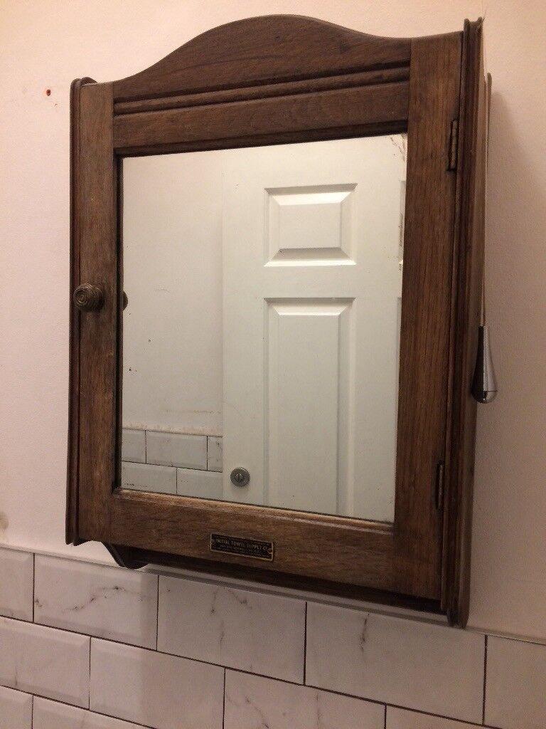 Vintage Wooden Bathroom Caninet