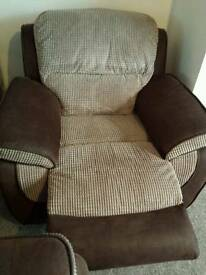 Fabric leather Recliner armchair