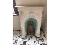 Vintage Cast Iron Fire Place & Surroundings