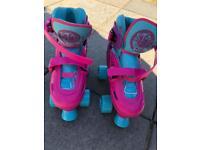 Junior size UK12-2 Roller boots SFR Hurricane Adjustable Quad Skates