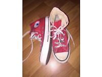 Size 5 Red Chuck Taylor Converse High Tops £10