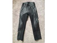 Ladies Leather + Textile Motorbike Trousers
