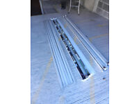 2 Double + 2 Single 2400mm 8' Fluorescent Strip Lights Batten Fittings with Tubes