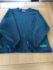 Cubs sweatshirt and polo shirt, both size 32