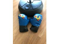 Kids Boxing stand, bag and gloves