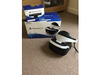 Playstation VR headset with PlayStation camera v2 Resident evil and VR worlds