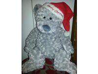 """Large merry Christmas teddy bear 21"""""""