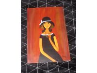 picture on canvas wooden frame
