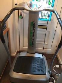 Vibration plate exercise machine