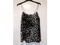 Topshop boutique top 100% silk new with tags size 8