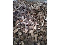Seasoned fire wood open fire multi fuel stove