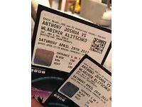 Anthony Joshua vs Vladimir Klitschko 2 tickets in lower tier excellent view of ring