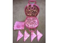 Girls toys for sale - Tea set and three toy unicorns