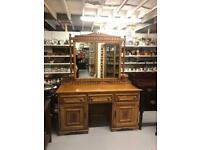 20th century oak sideboard with mirror
