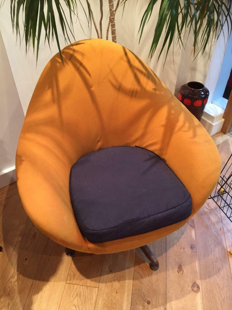 Brilliant Original Vintage Retro Swivel Tilting Egg Chair In Ipswich Suffolk Gumtree Short Links Chair Design For Home Short Linksinfo