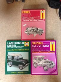 Haynes manuals as pictured