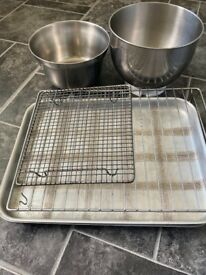 2 large Baking Trays 2 mixing bowls 2 cooling racks