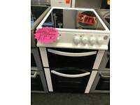 LOGIK 50CM ELECTRIC DOUBLE OVEN COOKER IN WHITE