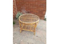 Rattan coffee/occasional table