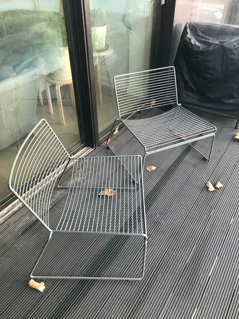 hay hee lounge chair pair outdoor furniture genuine in southwark london gumtree. Black Bedroom Furniture Sets. Home Design Ideas