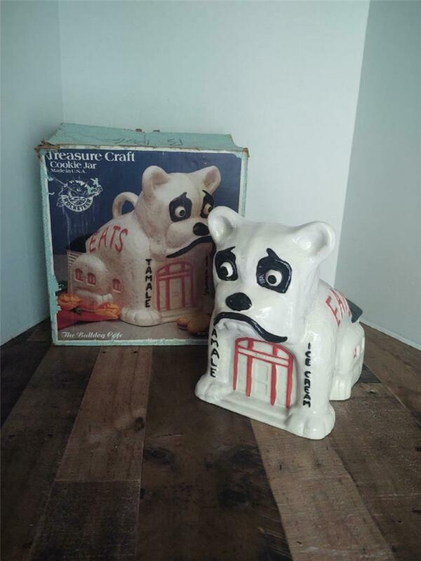 Vintage Disney Treasure Craft The Rocketeer French Bulldog Cafe Cookie Jar