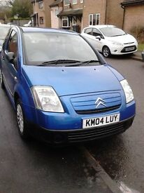 CITREON c2 3 door hatchback blue