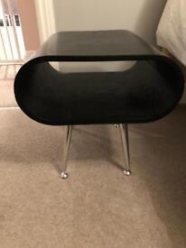 2 Made black bedside tables