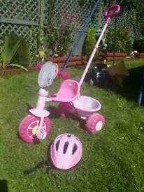 Peppa pig bike trike with helmet
