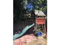 Wooden climbing frame/playhouse (reduced for quick sale)