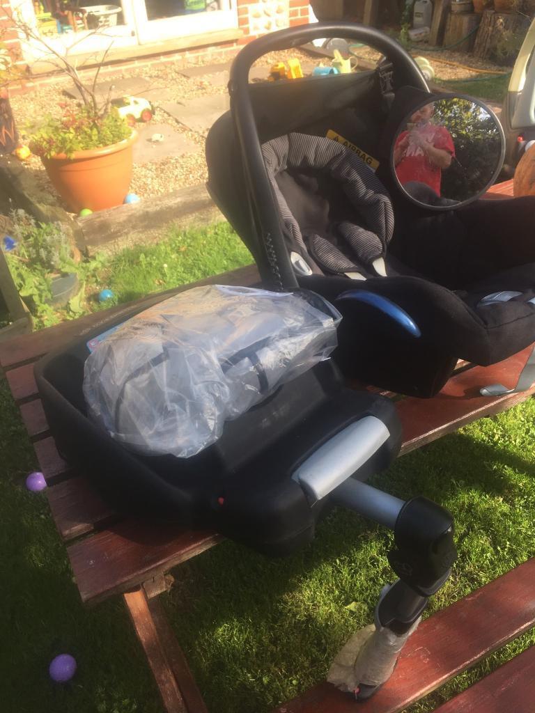 Car seat/base rain cover+mirror