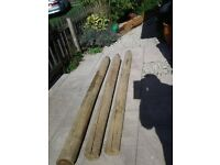 Wooden Fence Posts x3