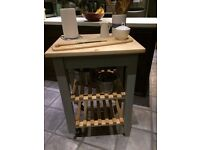Solid kitchen island/butcher's block, Annie Sloan 'Paris Grey' painted legs