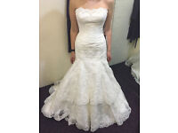 New with tags - David Tutera Designer Ivory Lace Wedding Dress - Size 10 - £799 or nearest offer