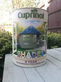Cuprinol wood paint, willow green, brand new!!