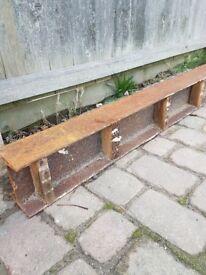 RSJ - steel beam. 12ft (365.5cm) long x 6 inches (15cm) high x 4.5 inches (11.5cm) deep