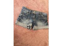 Next Girls denim shorts.