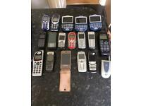 Job Lot Of 18 Mobile Phones Retro. Blackberry, Nokia Etc. For parts/not working.