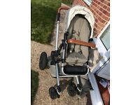 Bargain! Superb condition! Joolz Day Pram in elephant Grey with accessories