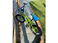 "Halfords Boys Green bike 16"" wheels"