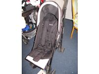 black pushchair, by Silver Cross, very good and popular company