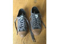 Converse All Stars size 5 Grey suede