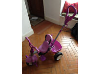 Toddler Trike with straps and parent handle
