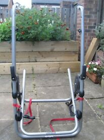Halfords rear mounted bike carrier.