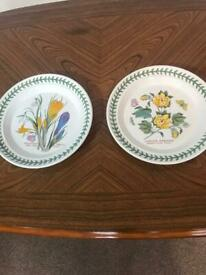 The Botanic Gardens Crocus and Barbadense Tea Plates Dia 7.25in/8.25cm Excellent condition