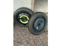 Space saver tyres and wheels