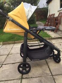 Yellow Uppababy Cruz pushchair excellent condition lots extras