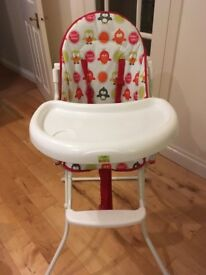 Baby high chair. Tweet by Redkite