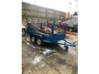 Multipurpose twin wheel steel trailer as new